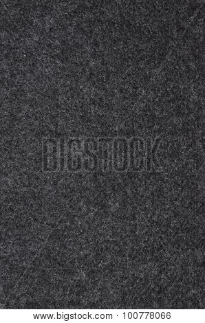Black felt cloth as background