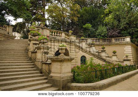 Entrance to Arenes de Lutece in Paris