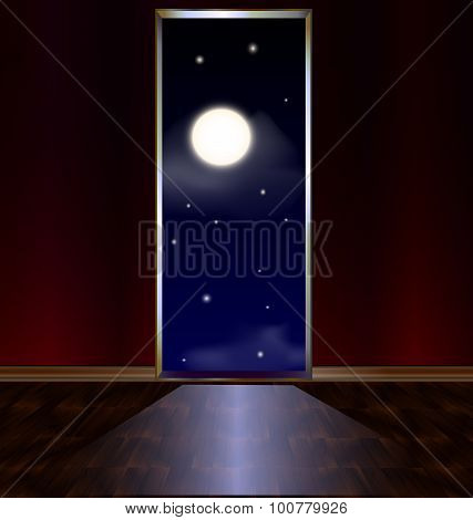 exit in night heavens