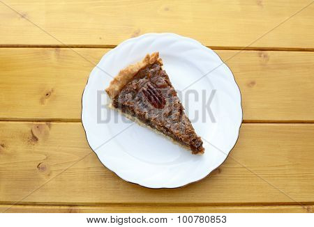 Portion Of Traditional Pecan Pie