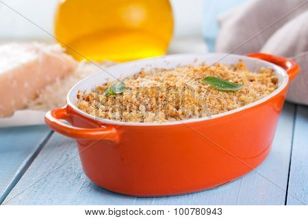 Gratin Topped With A Crust Of Breadcrumbs