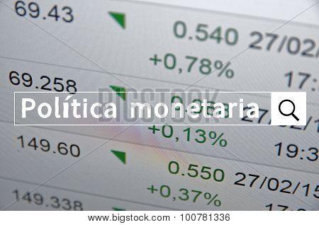 Politica monetaria