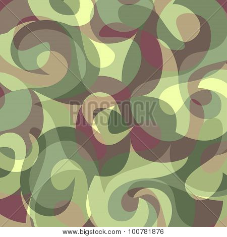Military Camouflage Color Beautiful Background Vector Illustration