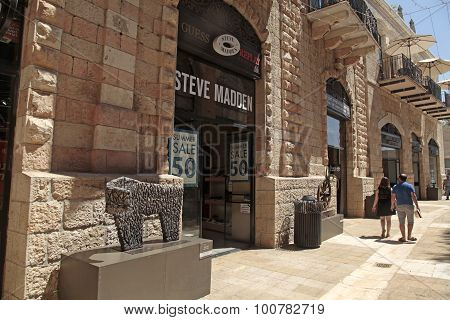 Steve Madden Boutique At Modern Mamilla Shopping Mall  In Jerusalem, Israel.