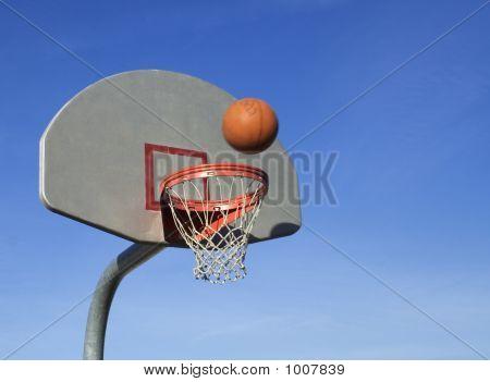 Basketball Going Into Net