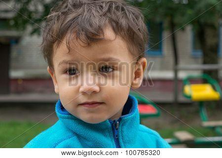 Portrait Of Pensive Boy