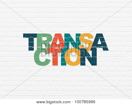 Banking concept: Transaction on wall background