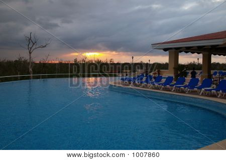 Sunset At A Cancun Beach Resort #2
