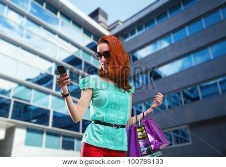 Woman with many shooping bags