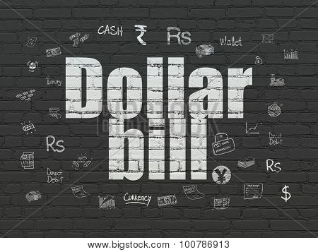 Banking concept: Dollar Bill on wall background