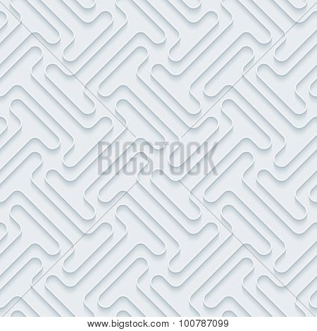 Industrial. White paper with outline extrude effect. Abstract 3d seamless background.