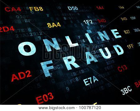 Security concept: Online Fraud on Digital background