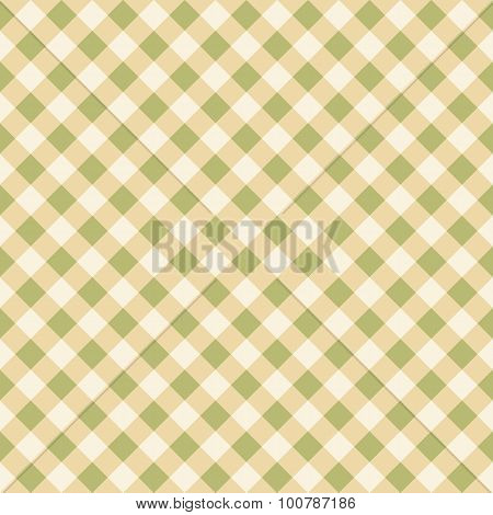 Seamless Checkered Plaid Fabric Pattern Texture in Natural Earth Colour Tones
