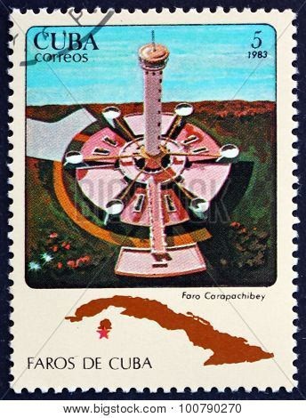 Postage Stamp Cuba 1983 Carapachibey, Lighthouse
