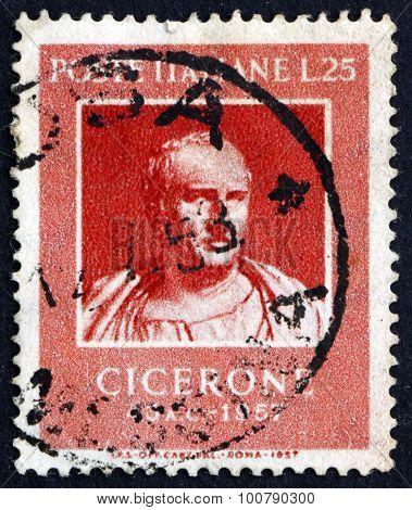 Postage Stamp Italy 1957 Marcus Tullius Cicero