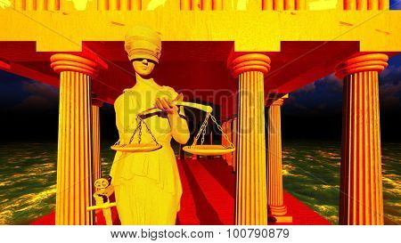 Themis - lady of justice in court