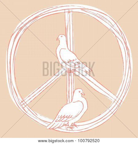 International Day of Peace. Pigeons.