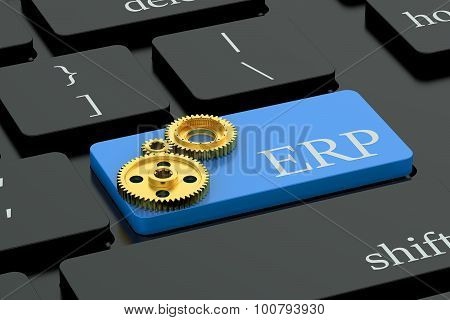 Erp Concept On Keyboard Button