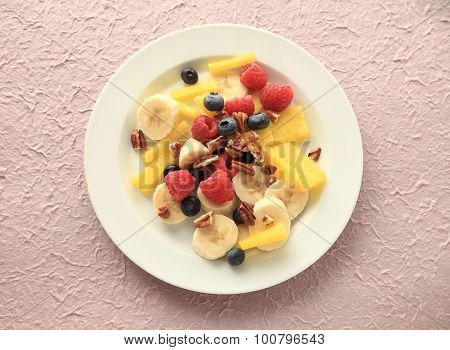 Plate Of Fresh Summer Fruits