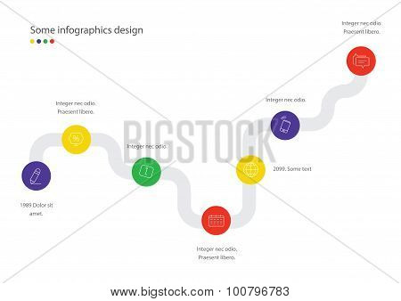 Timeline vector infographic. Scheme. Minimalistic design template. Useful for presentations.