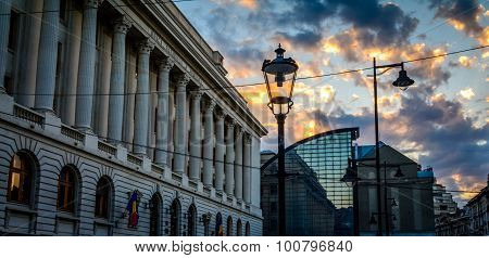 Bucharest, Romania - June 28: The National Bank Of Romania On June 28, 2015 In Bucharest, Romania. I