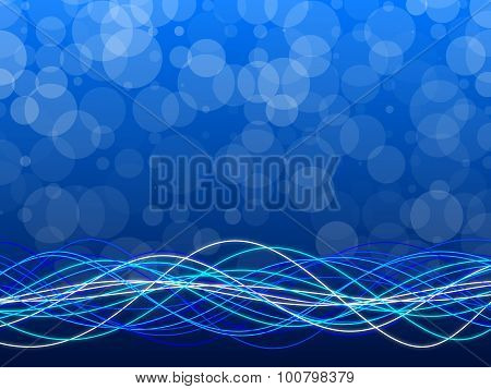 Blue Abstract Background, Circles And Form