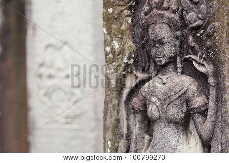 Carving at Angkor Thom