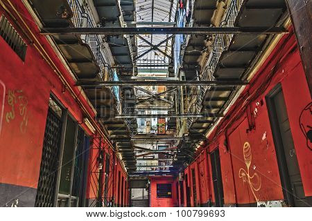 Passage In The Old Town Of Bucharest, Romania. The Historical Passage Still Used Today, Hosts Severa