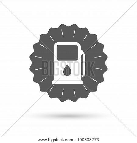 Petrol or Gas station icon. Car fuel sign.