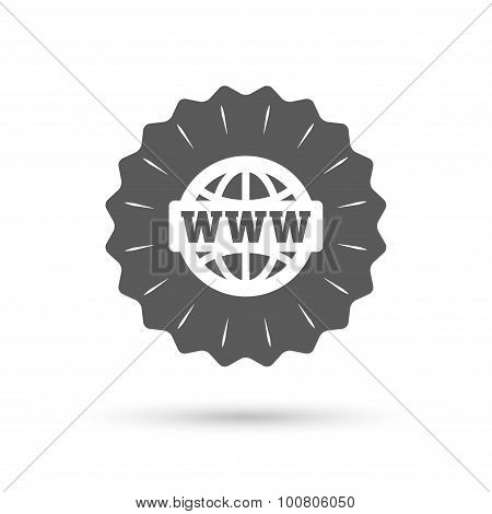 WWW sign icon. World wide web symbol.