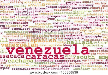 Venezuela as a Country Abstract Art Concept