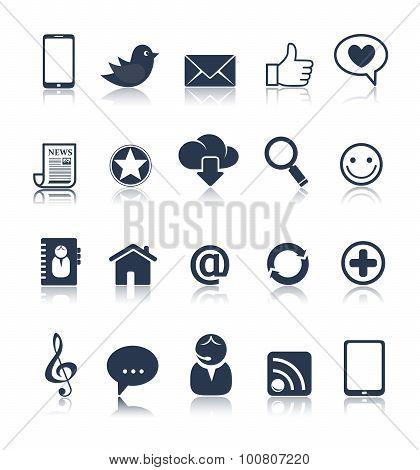 Internet Communication Icon Set