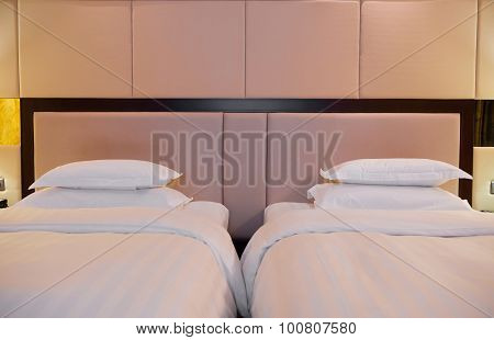 Two Beds In A Hotel Room