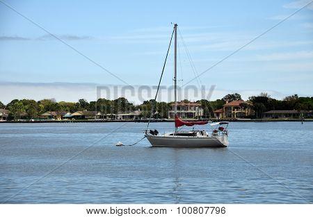 Sailboat Near St Augustine