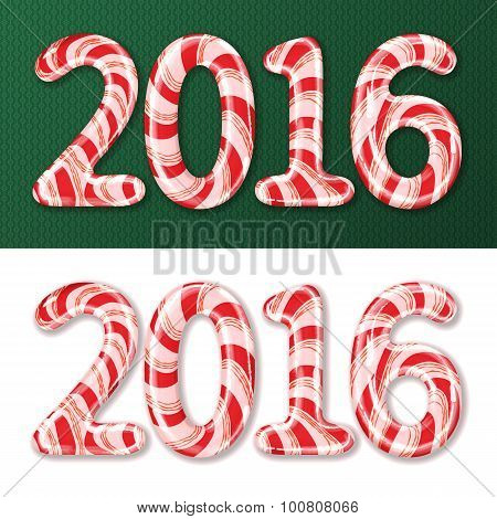 New Year 2016 Candy Cane