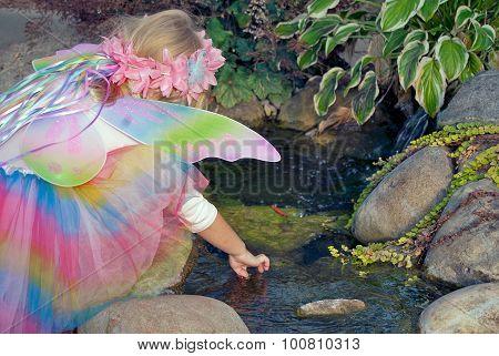 little fairy girl in garden