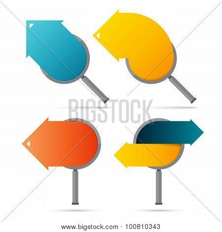 Arrow Copyspace Magnifiers