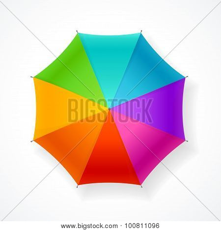 Umbrella Rainbow. Vector