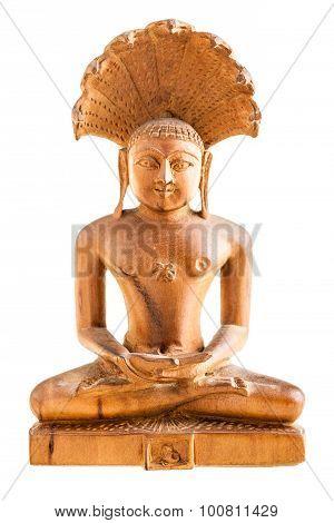 Wooden Buddhist Statuette