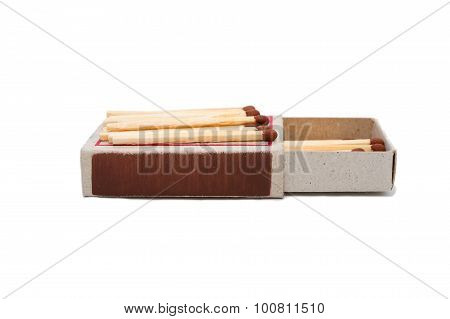 Open Matchbox With Matches