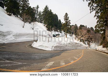 Hachimantai Aspite Line, Corridor Of Snow, Akita~iwate, Japan