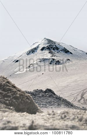 Japan Alps , Winter Moutains With Snow.