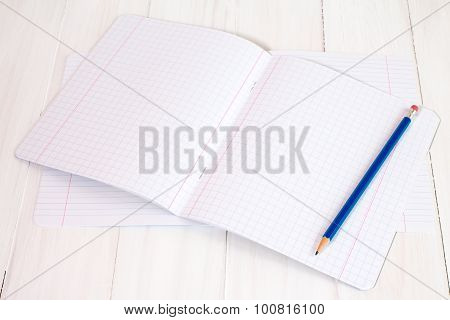 New Exercise Books And Pencil
