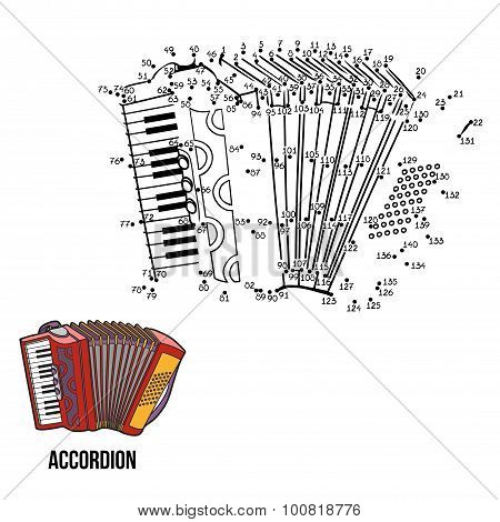 Numbers Game For Children: Musical Instruments (accordion)