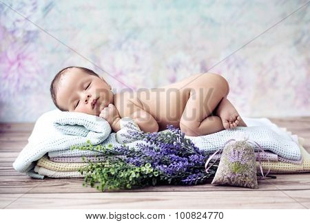 Fine art portrait of a newborn baby