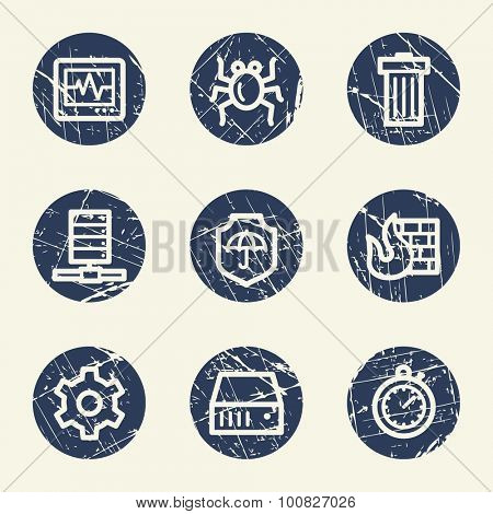 Internet security web icons