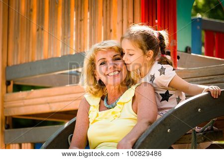 Grandmother with grandchild portrait