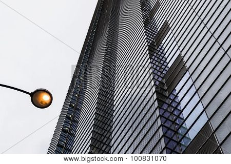 Modern Building Exterior Abstract Repeating Pattern