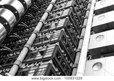 Modern Building Vertical Abstract Design With Detail