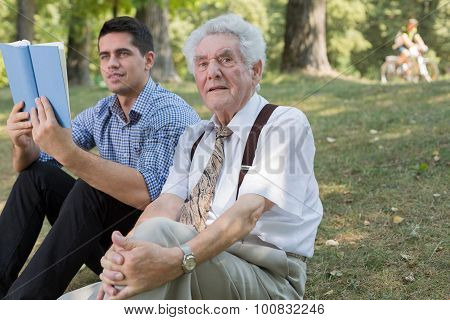 Old Man And His Grandson